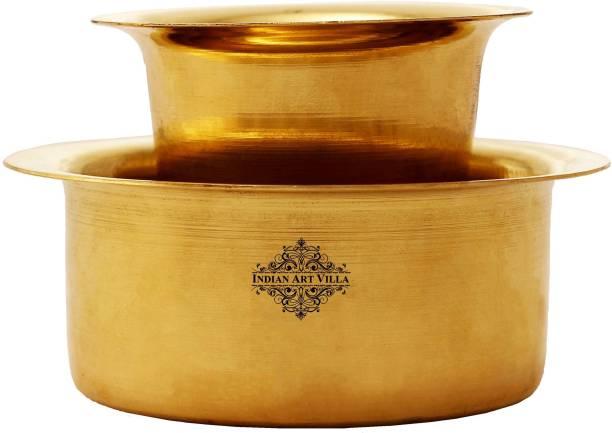 IndianArtVilla Brass Coffee Filter Davara Coffee Maker , Home Hotel Restaurant, 175 ML, Gold Indian Coffee Filter
