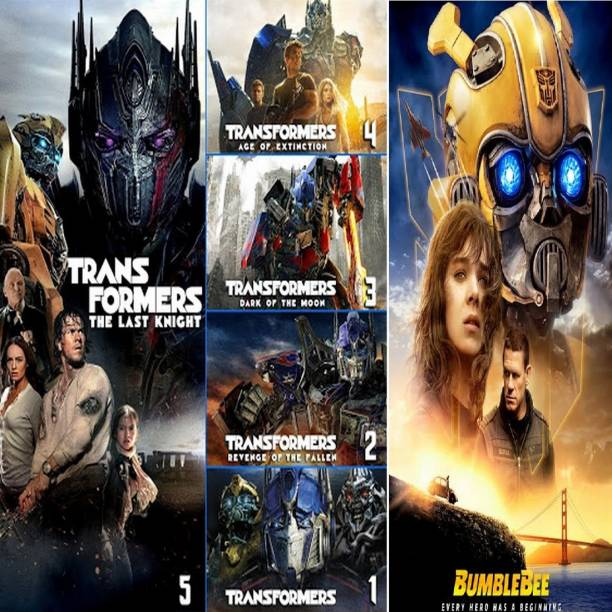 Transformers 1 to 5 & Bumblebee (6 movies) dual audio Hindi & English clear voice & print it's burn data DVD play only in computer or laptop it's not original without poster