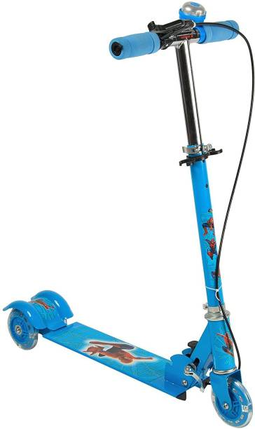 MV SUPER HUB Scooter for Kids, 3 Wheel Smart Kick Scooter with Foldable & Height Adjustable Handle, Runner Skate Scooter with LED PU Wheels for Indoor & Outdoor Fun, Age 3-12 Years-Capacity 35 kg