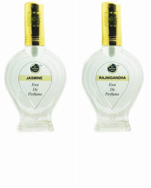 The perfume Store JASMINE, RAJNIGANDHA Regular pack of 2 Perfume Eau de Parfum  -  120 ml