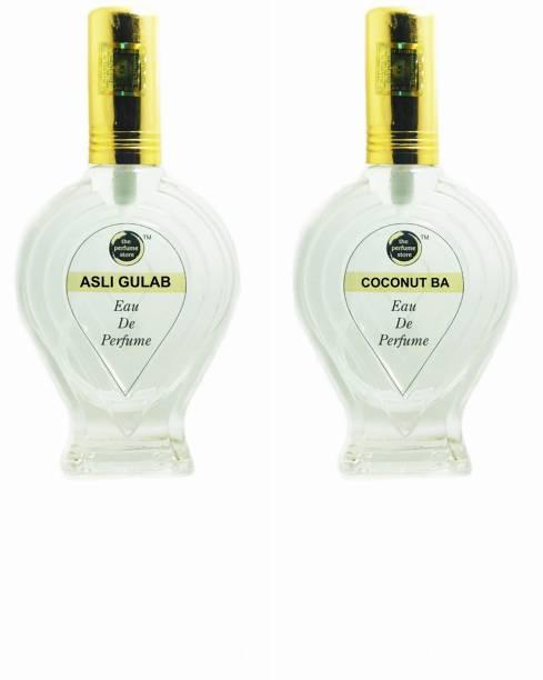 The perfume Store ASLI GULAB, COCONUT BA Regular pack of 2 Perfume Eau de Parfum  -  120 ml
