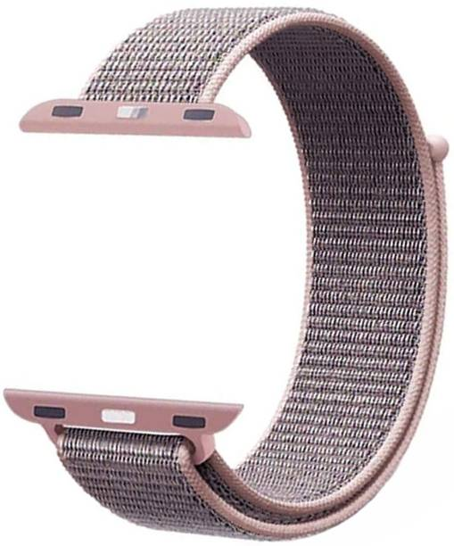 WEWIN Woven Nylon Sport Loop Replacment Band Strap for iWatch Apple Watch 38mm/40mm Series 5/4/3/2/1 (Pink ) Smart Watch Strap