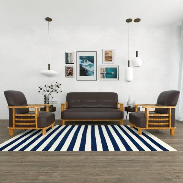 Sekar Lifestyle Home & Office Series Leatherette 3 + 1 + 1 Brown Sofa Set