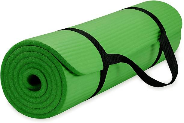 Fitness Mantra Anti Skid Yoga Mat with Strap Green 6 mm Yoga Mat