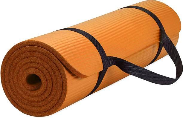 Fitness Mantra Anti Skid Yoga Mat with Strap Orange 6 mm Yoga Mat