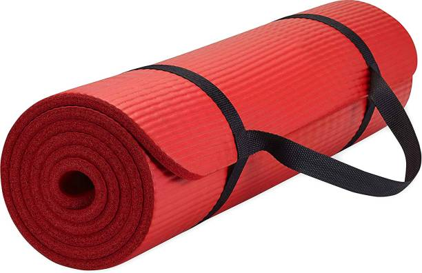 Fitness Mantra Anti Skid Yoga Mat with Strap Red 6 mm Yoga Mat