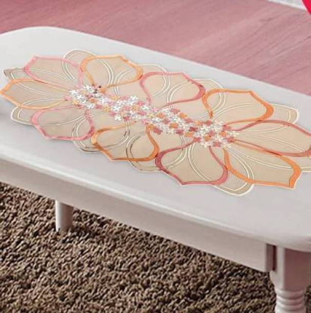 PURVI COLLECTIONS Pink, Orange 80 cm Table Runner