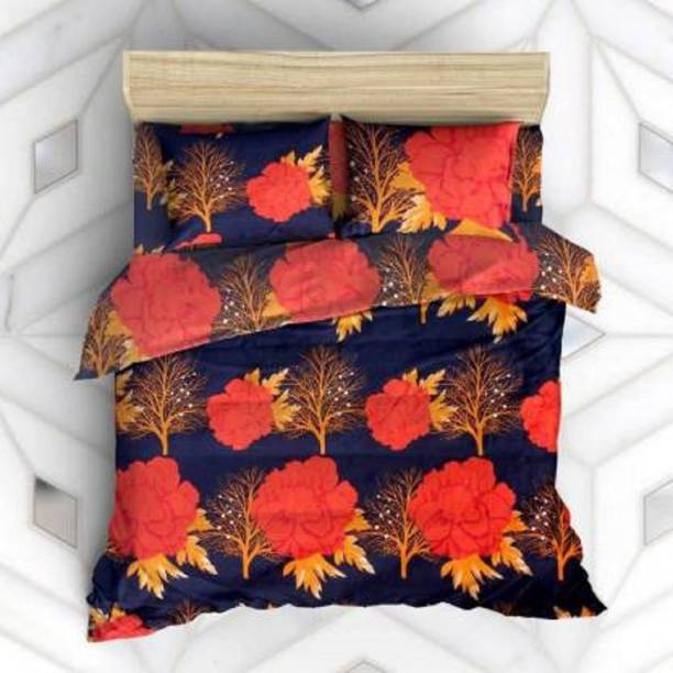 Inspire Décor 199 TC Microfiber Double 3D Printed Bedsheet