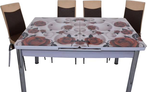 LOYAL FURNITURE BROWNY-103 Engineered Wood 4 Seater Dining Set