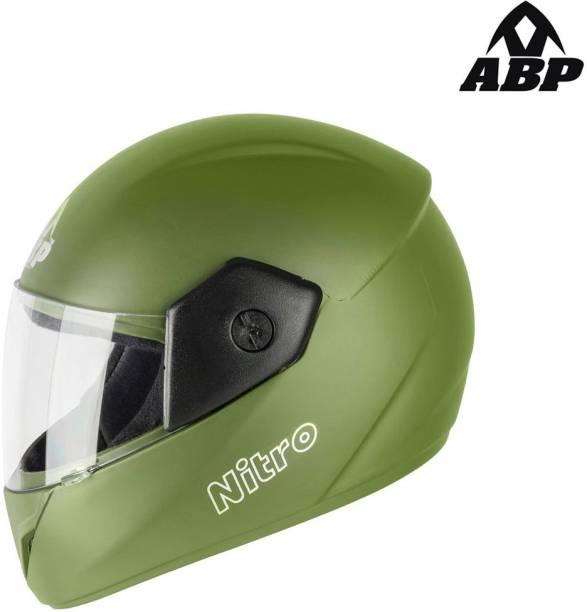 ABP Nitro Open Face Army Green Racing Motorsports Helmet (Matte) Motorbike Helmet