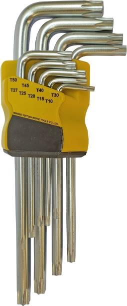 Inditrust Long Torx Allen Key Set 9pc Star torx allen key set Allen Key Set