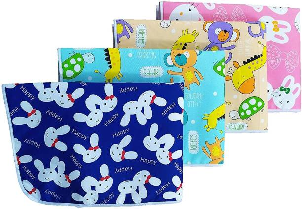 Customary New Born Baby Combo of 4 Nappy Changing Bed, Mattress