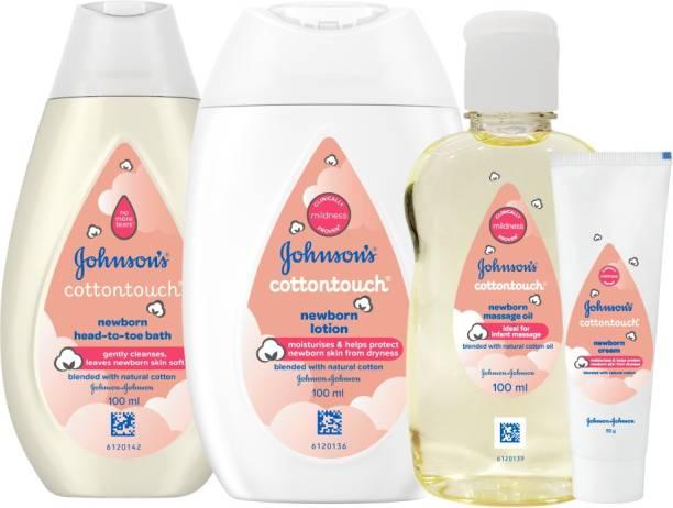 JOHNSON'S Cottontouch Newborn Head-To-Toe Bath+Lotion +Oil