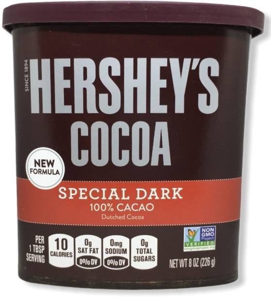HERSHEY'S Special Dark Dutched Cocoa 100% Cacao IMPORTED 8 Oz Cocoa Powder