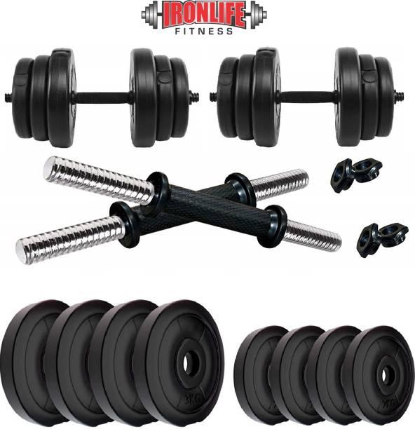 ironlife fitness 16 KG DUMBBERL SET Adjustable Dumbbell