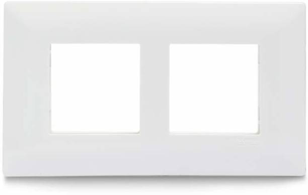 Schneider Electric Livia-4 Module Grid & 4 Module Cover Frame - White (Pack of 8) Wall Plate