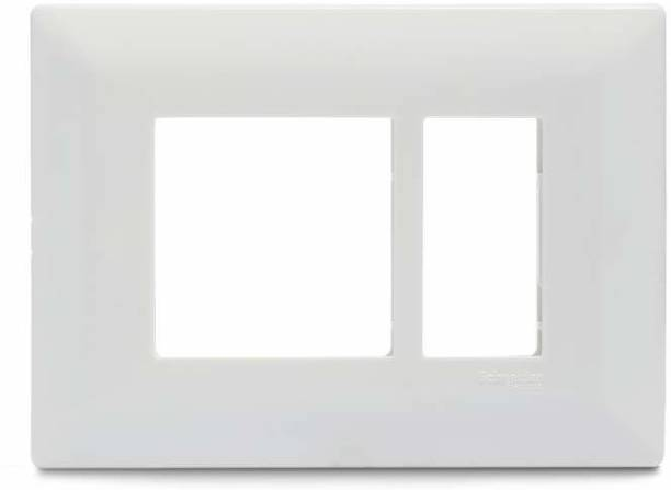 Schneider Electric 1-2 Module Grid & 1 Module Cover Frame - White (Pack of 15) Wall Plate