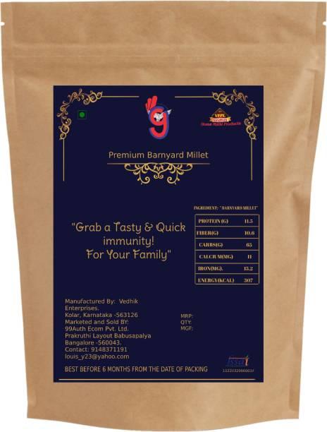 99Auth Natural Zero Adulteration 1.5kg Organic Barnyard/Kuthiravaali Millet Barnyard Millet