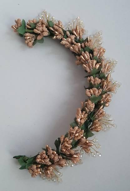ZENCY gold polens crystal brooch Hair Chain