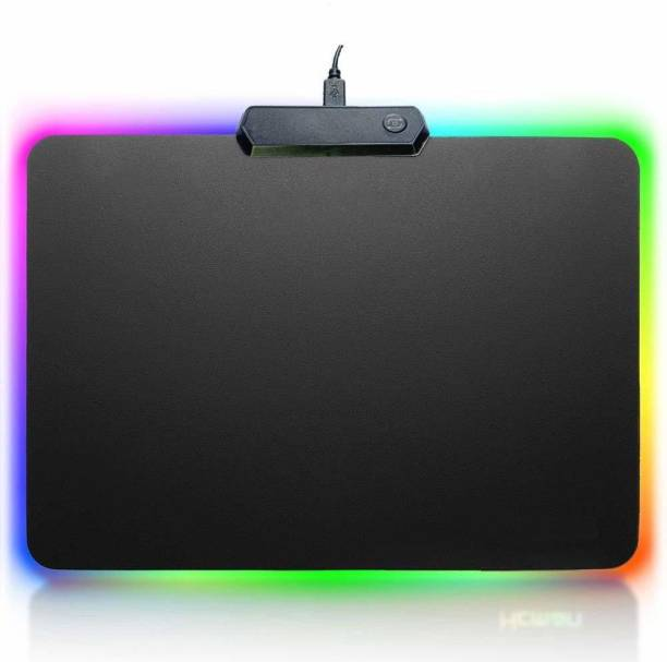 SMACC RGB Gaming Mouse Pad, Non-Slip Rubber Base, Soft Glowing 14 LED Modes Gaming Desk Keyboard Pad Mat (Small LED 35x25 cm) Mousepad