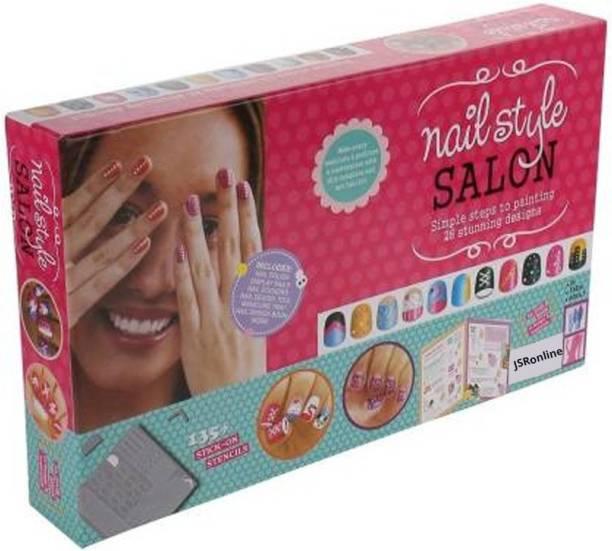 JSR Craft Nail Style Salon Kit For Girl Kids 8+ Years/ Birthday Gift For Girls (Multicolor)