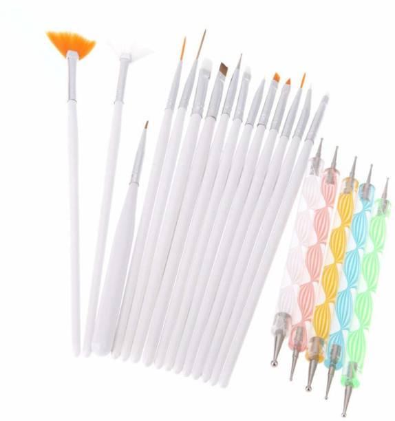 Shills Professional 20pcs Nail Art Design Dotting Painting Drawing UV Polish Brush Pen Tools Set Kit