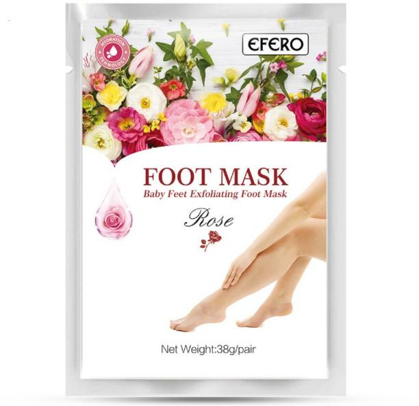 FOREVER YOUTH 2pcs/pair Rose Exfoliating Foot Mask Socks for Pedicure Peeling Dead Skin Remover
