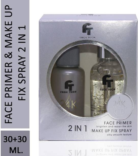 face tech 2 in 1 24 K Gold Primer and Makeup Setting Spray  Primer  - 60 ml