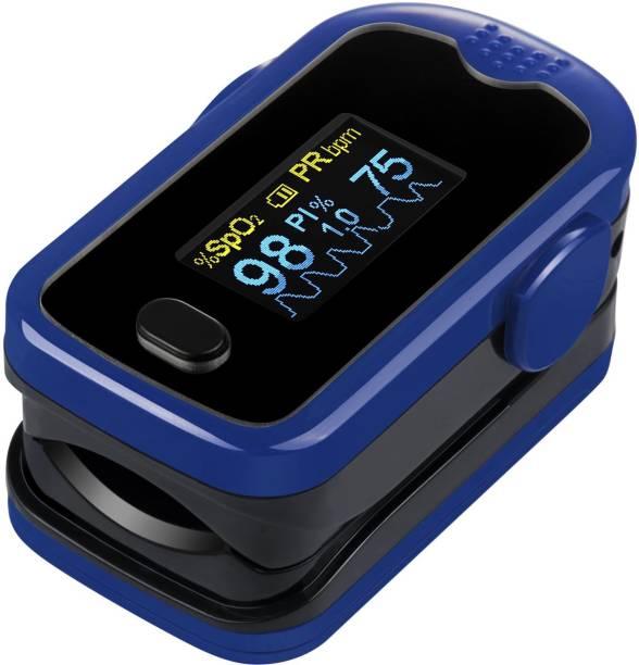 Smart Saver Fingertip Pulse Oximeter for Health with Alarm Function Pulse Oximeter (Blue) Pulse Oximeter