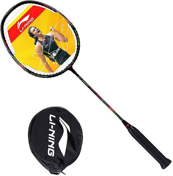 LI-NING XP2020 Series Strung Badminton Racket (Black) Black Strung Badminton Racquet
