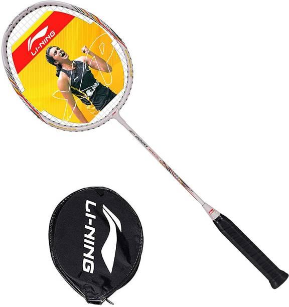 LI-NING XP 2020 Series Strung Badminton Racket (White) White Strung Badminton Racquet
