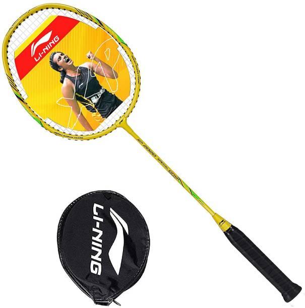 LI-NING XP2020 Series Strung Badminton Racket (Yellow) Yellow Strung Badminton Racquet