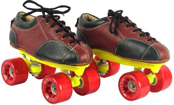Dixon Leather Skate Shoes with Carry Bag, Unisex Quad Roller Skates - Size 3