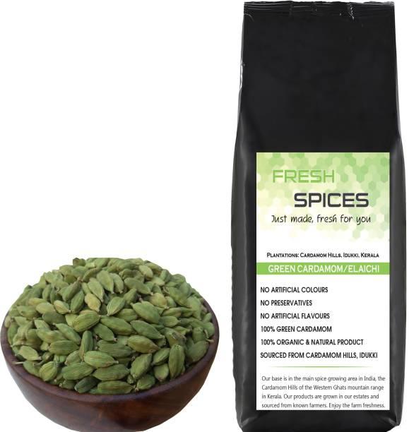 Fresh Spices Green Cardamom / Elaichi (250g), Homestead produce from Cardamom Hills, Kerala