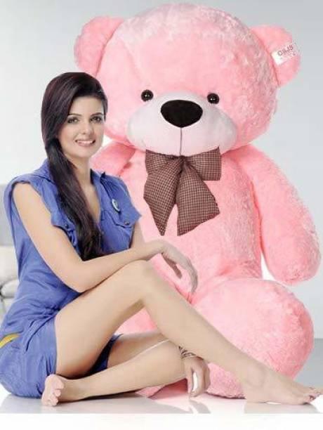 Ziraat Neck Bow Stuffed Spongy Cute Teddy Bear for Kids  - 90.1 cm