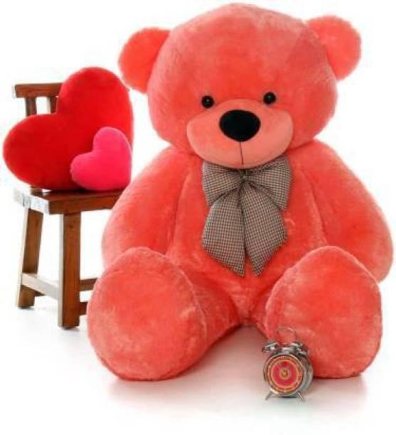ridhisidhi 3 Feet recall value , Stuffed Spongy Huggable Smartoys Cute & Soft Red Teddy Bear - 90 cm ( light Red)  - 90 cm