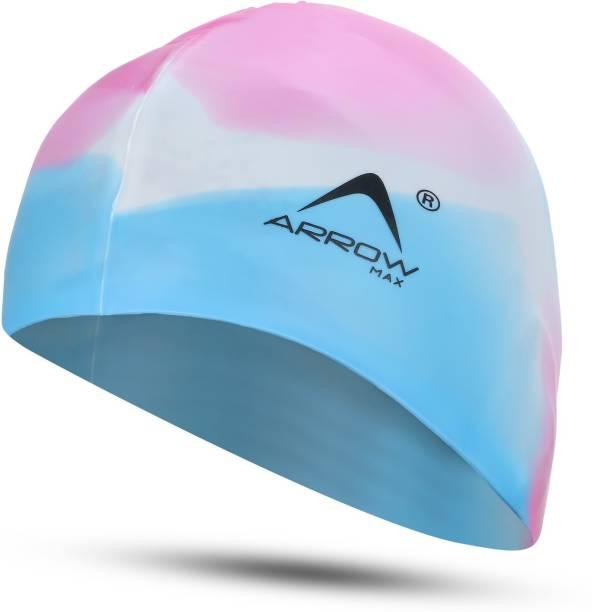 ArrowMax PREMIUM 100% SILICONE EASY COMFORT ANTI SLIP Swimming Cap