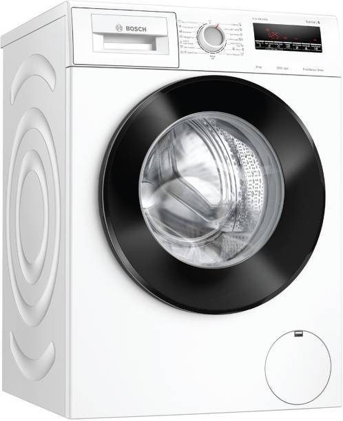 BOSCH 8 kg 5 Star Fully Automatic Front Load with In-built Heater White