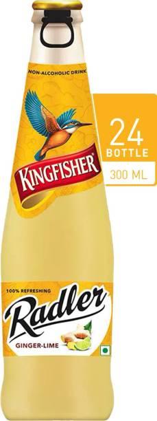 Kingfisher Radler Non Alcoholic Malt Drink Beer - Ginger and Lime Glass Bottle - Pack of 24 Glass Bottle