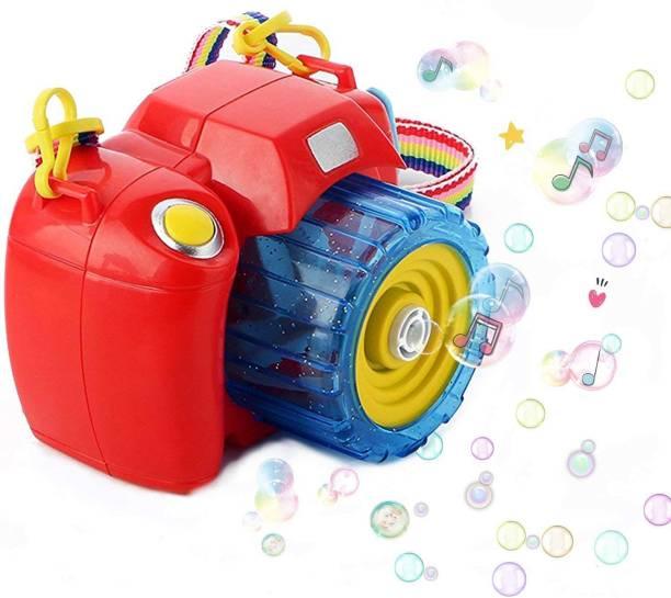 Wishkart Camera Bubble Machine with Bubble Solution -Automatic Bubble Blower for Kids-More Than 500 Bubbles per Minute Toy Bubble Maker