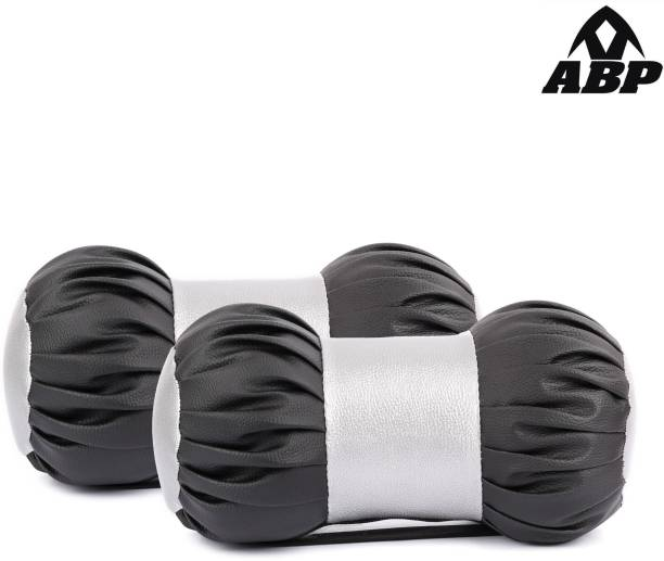 ABP Black, Silver Leatherite Car Pillow Cushion for Universal For Car