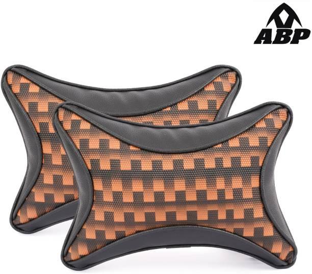 ABP Orange, Black Leatherite Car Pillow Cushion for Universal For Car