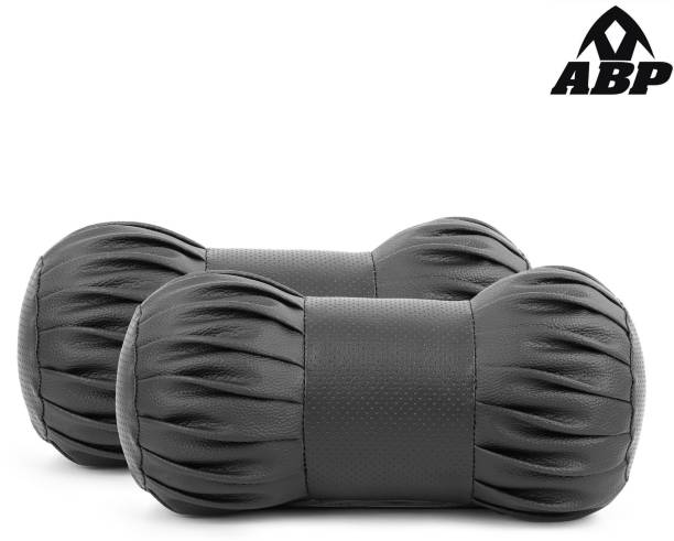 ABP Black Leatherite Car Pillow Cushion for Universal For Car