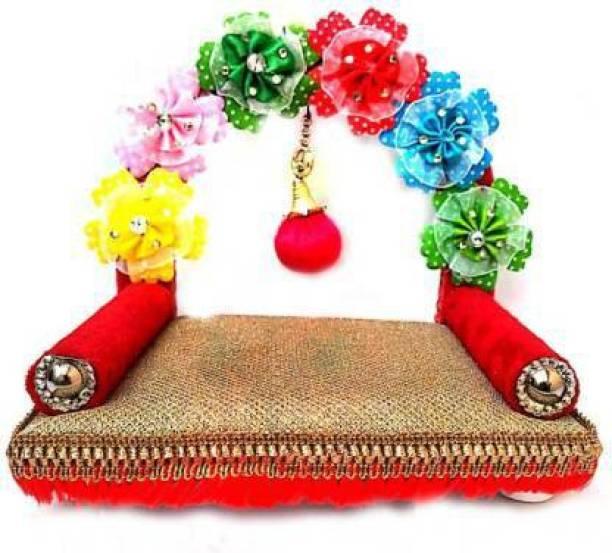 Gopal ji Collection Laddu Gopal Sofa Flower Sihasan Designer ,Laddu Gopal o To 5 No. Laddu Gopal Sofa , Laddu Gopal bed Wooden Pooja Chowki