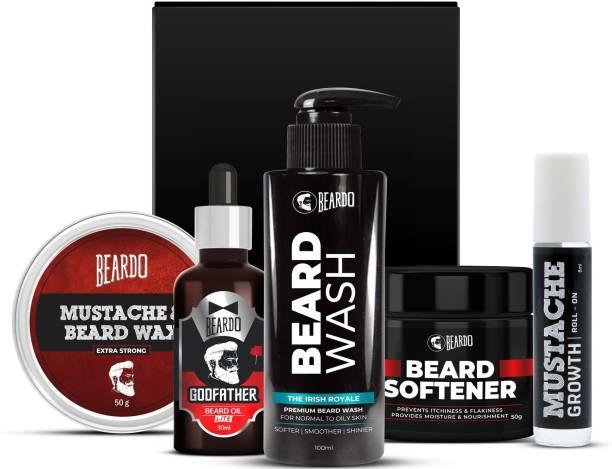 BEARDO Beard Grooming Combo With Godfather Oil & Irish Royale Wash