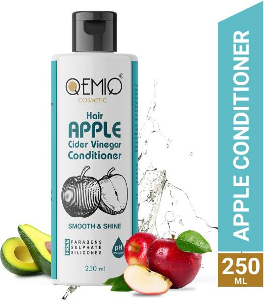 QEMIQ Apple cider Vinegar Hair Conditioner- Help for Dandruff and Frizz prevention of Hair | Paraben, Silicones & Sulphate free