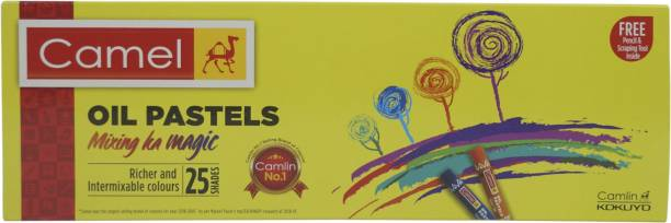 Camel Oil Pastels 25 Shades with Drawing Pencil