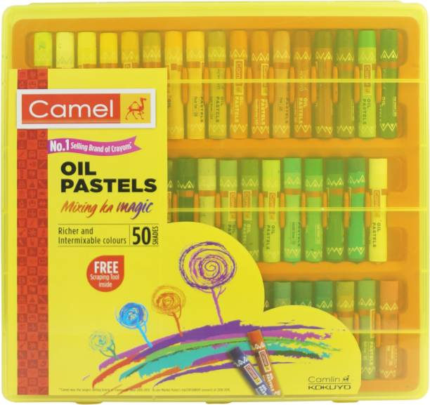 Camel Oil Pastels 50 Shades Reusable Pack