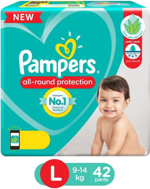 Pampers Diaper Pants Lotion with Aloe Vera - L