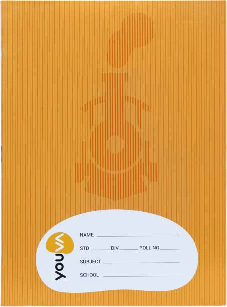NAVNEET Youva Soft Bound 18x24 cm� Brown Assorted Notebook Big Square 124 Pages